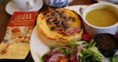 Sally Lunn's Bun Welsh Rarebit Special