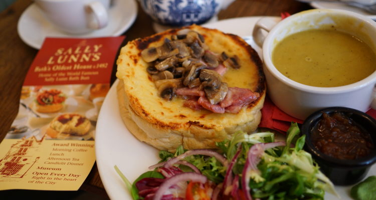 Sally Lunn's Bun Welsh Rarebit Special